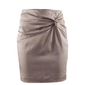 H&M Taupe Knot Skirt